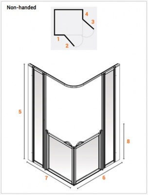 AKW Half Height Standard Screens -White - Option BF