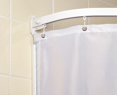 Weighted Shower Curtains - Plain White Contract
