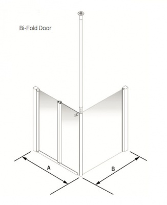 Larenco Corner Half Height Shower Enclosure Bi-fold Door with Return Panel