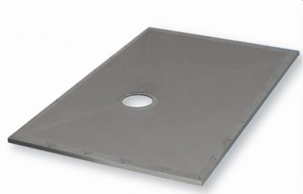 WRD Wet Deck floor pan for wet room shower areas. Super strong wet floor former does not need under boarding. It can provide a wet room floor pan in concrete or wooden floors.