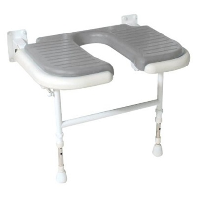 AKW Bariatric Extra Wide Horseshoe Shower Seat - Grey