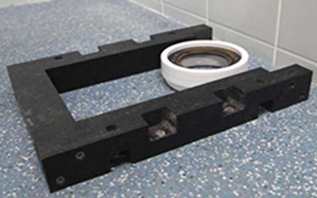Closomat toilet plinths to get the correct height to suit the users needs