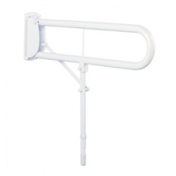 Hinged Arm Support with Leg, White