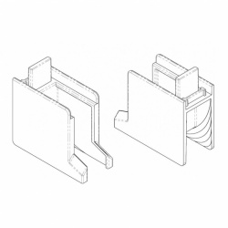 AKW Standard Screen Corner Radius Block (Pair) White