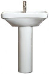 Concave Wash Basin with Full Pedestal