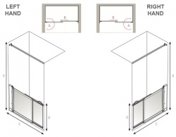 AKW Half Height Sliding Screens -White - Option SM
