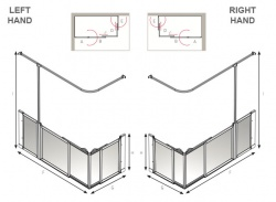AKW Half Height Sliding Screens -White - Option SX