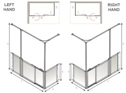 AKW Half Height Sliding Screens -White - Option SY