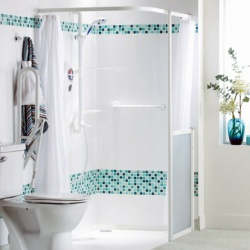 AKW Heavy Duty White Shower Curtains
