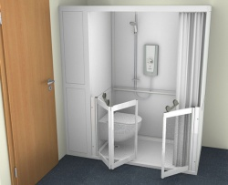 Contour Full Cubicle Shower Enclosure Option 2 - WC and Single and Bi-Folding door