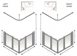AKW Half Height Standard Screens - Silverdale - Option E
