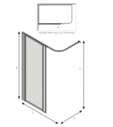 AKW Half Height Standard Screens - Silverdale - Option HF