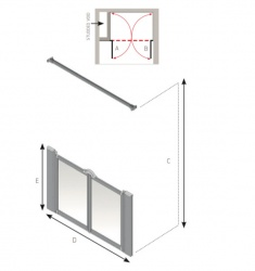 AKW Half Height Standard Screens - Silverdale - Option M