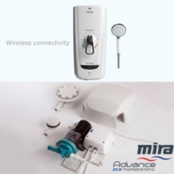 Mira Advance Flex Extra Electric Shower and Whale Instant Match Shower pump