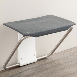 Impey Slimfold Shower Bench - Black Granite