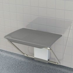 Impey Slimfold Shower Bench - Grey