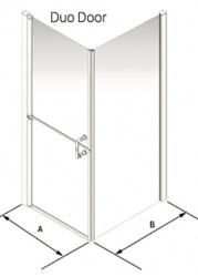 Larenco Corner Full Height Shower Enclosure Duo Door & Side Panel