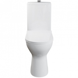 AKW Livenza Plus Close Coupled Toilet Pan with Cistern and Soft Close Seat