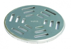 Purus Round Stainless Steel Grates for Vinyl Floors